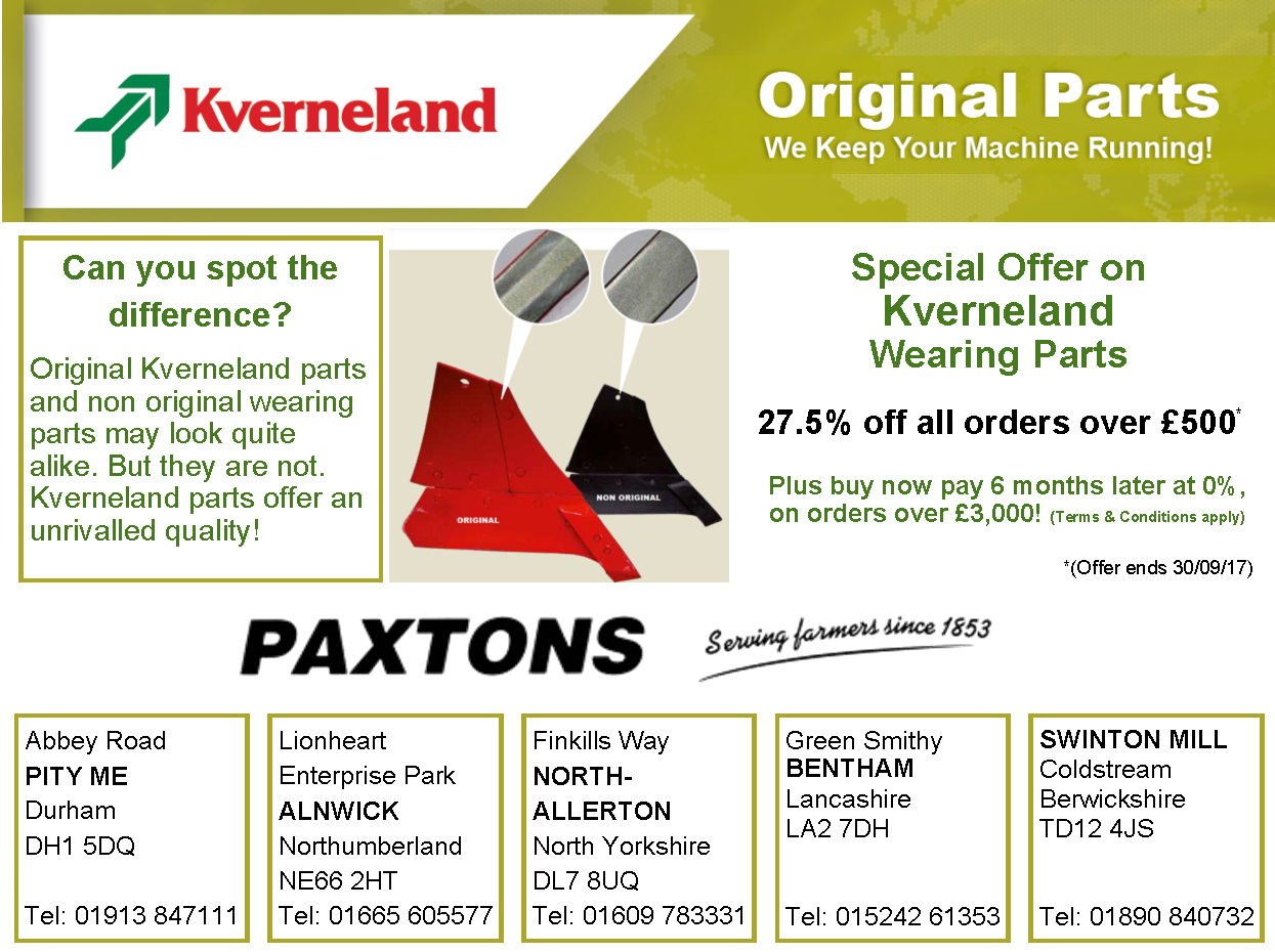 Paxtons Parts Offer July 2017